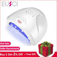 EUSCI SUN one 48W LED Lamp For Nail Polish UV Drying Machine Nail Dryer Gel Curing Fast Drying Professional With Infrared Sensor(China)
