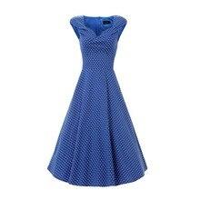 2016 Günstige Prom Kleid Sommer Sleeveless Retro Vintage 1950 s 60 s Party Kleid plus Größe mit DOT Cocktailkleid estidos de Noche