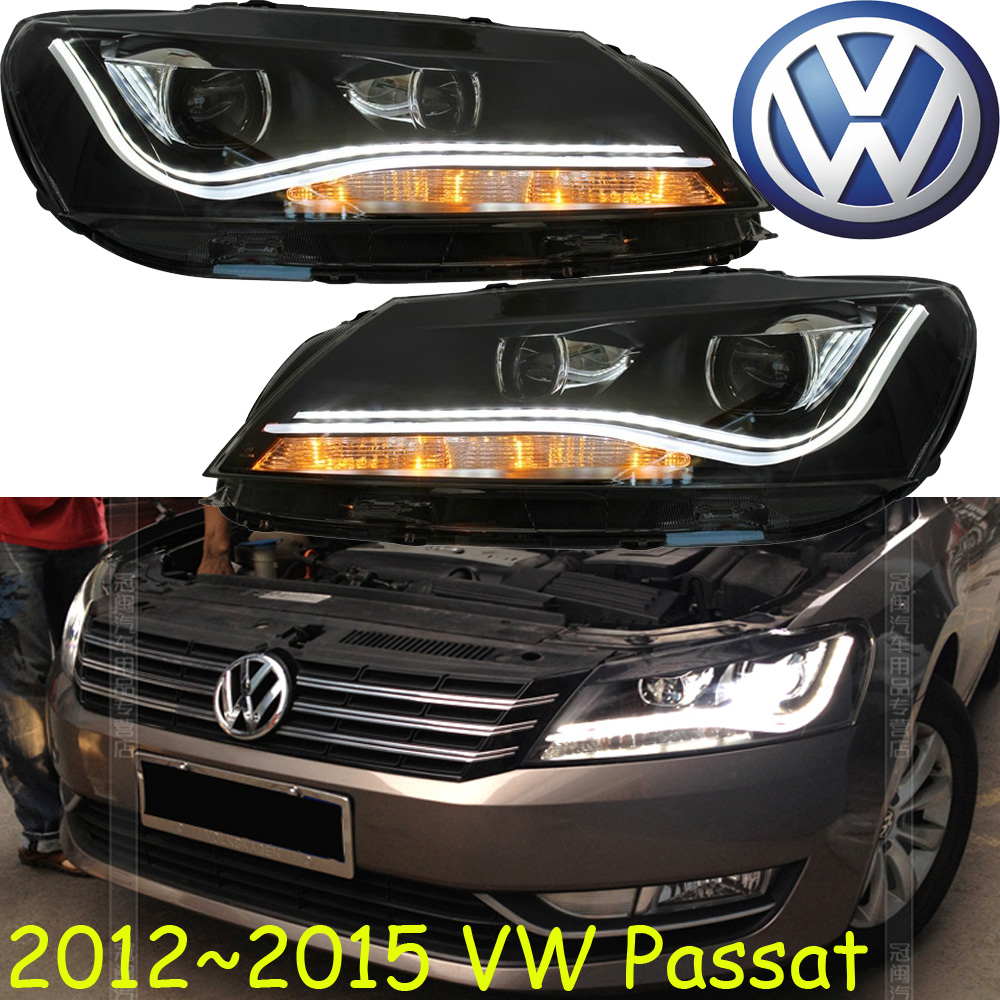 car-styling! Passat headlight,2012~2015,Free ship!chrome,Passat fog light,chrome,LED,B7,Passat,Magotan