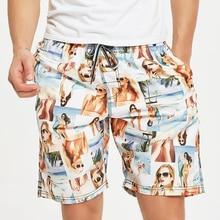 Новинка; прекрасные Принт с изображением девочки пляжные шорты мужские одежда для плавания Sunga морской отдых досуг брюки трусы мужские плавательные шорты для серфинга шорты для плавания