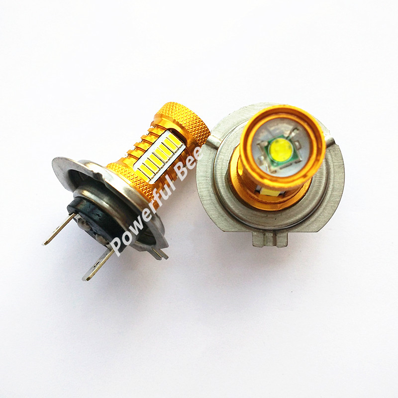 2 x H7 18W 700LM super white led 4014SMD car daytime running fog lights low beam lamp bulb, free shipping new arrival a pair 10w pure white 5630 3 smd led eagle eye lamp car back up daytime running fog light bulb 120lumen 18mm dc12v