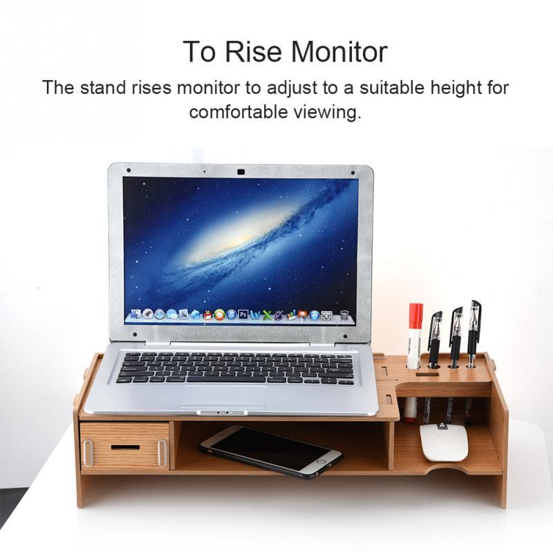 2-level Monitor Organizer Desktop Items Storing Desktop Monitor Stand for TV/Monitor for laptop