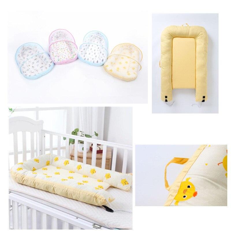 Bébé Alcofa nid lit Portable lit de voyage lit infantile enfant en bas âge coton berceau Portable nacelle pour nouveau-né bébé couffin pare-chocs - 5