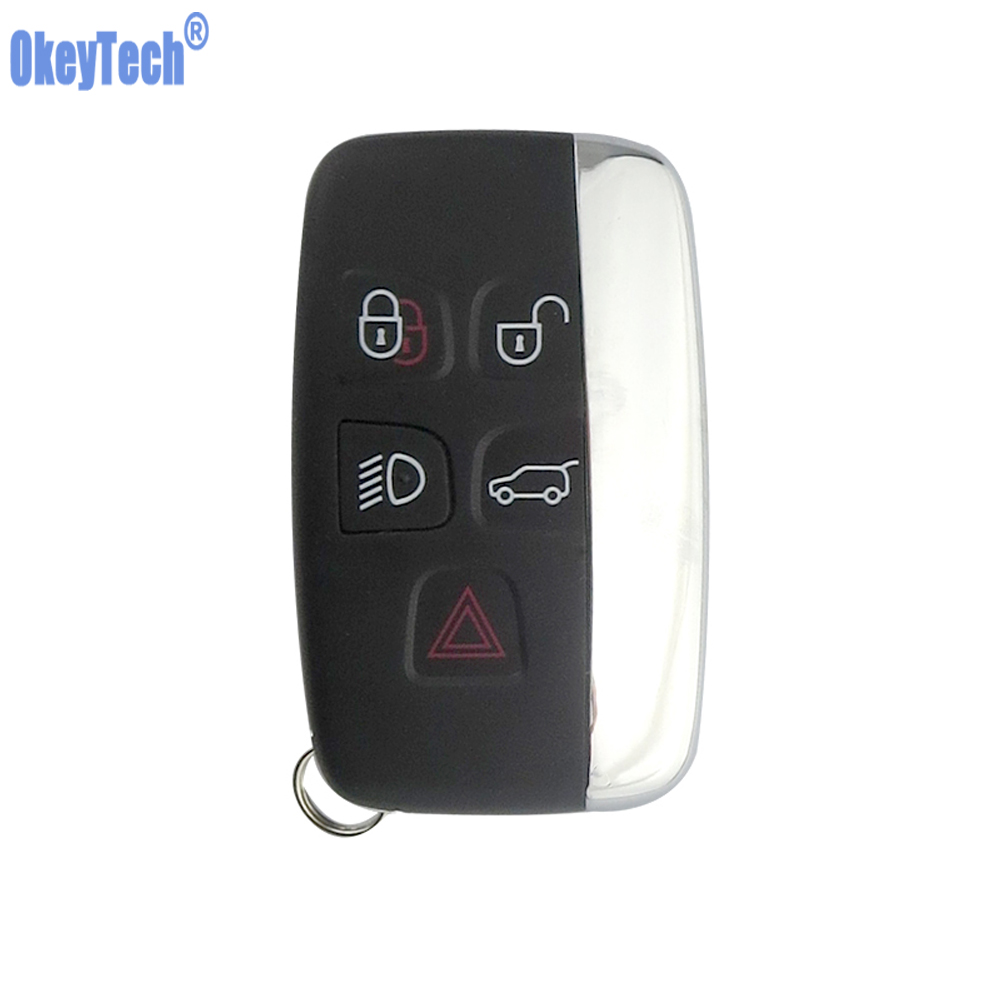 OkeyTech Remote Key for Land Rover Range Rover Sport Evogue LR4 2010-15 Refit 5 Buttons Keyless Entry Remote Replacement CoverOkeyTech Remote Key for Land Rover Range Rover Sport Evogue LR4 2010-15 Refit 5 Buttons Keyless Entry Remote Replacement Cover