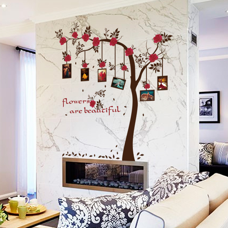 Safflower Picture Frame Tree Bedroom Living Room Entrance Wall Sticker DIY Wall  Decor Stickers Muraux Wall Decals In Wall Stickers From Home U0026 Garden On ... Part 45