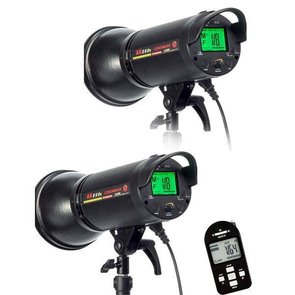CONONMARK Two Flashes AKE40 400W 3G 2.4GHZ HSS Wireless Strobe Flashlight,Studio strob lamp for photography studio cononmark 400ws g4 0 hss photographic studio outdoor strobe flashlight 3g remote video light for dslr camera