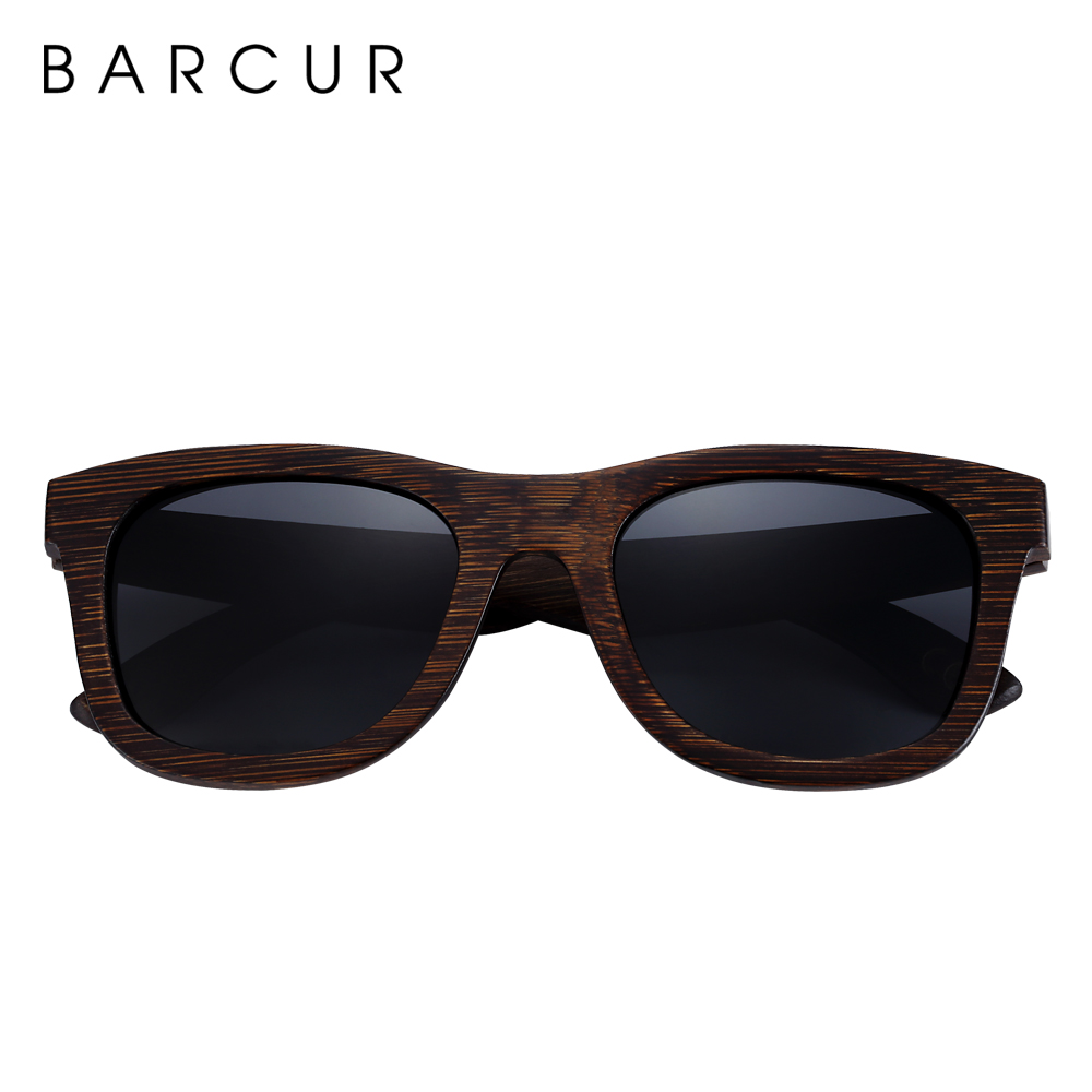 Image 2 - BARCUR Brown Glasses Retro Wood Eyewear Men Bamboo Sunglasses Women Unisex Sun Glasses with case Eyewear Oculos-in Men's Sunglasses from Apparel Accessories