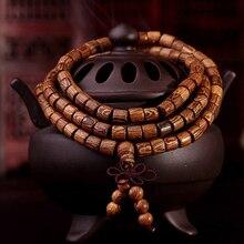 108*8mm/ 108*6mm Cindiry Brand Natural Sandalwood Buddhist Prayer Beads Bracelet grass Bangle Women Men Jewelry
