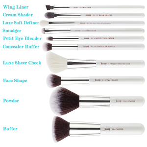 Image 5 - Jessup Beauty 10pcs Goat Synthetic Hair Makeup Brushes Set Eyeshadow Foundation Powder Concealer Cosmetic Kit  5 colors