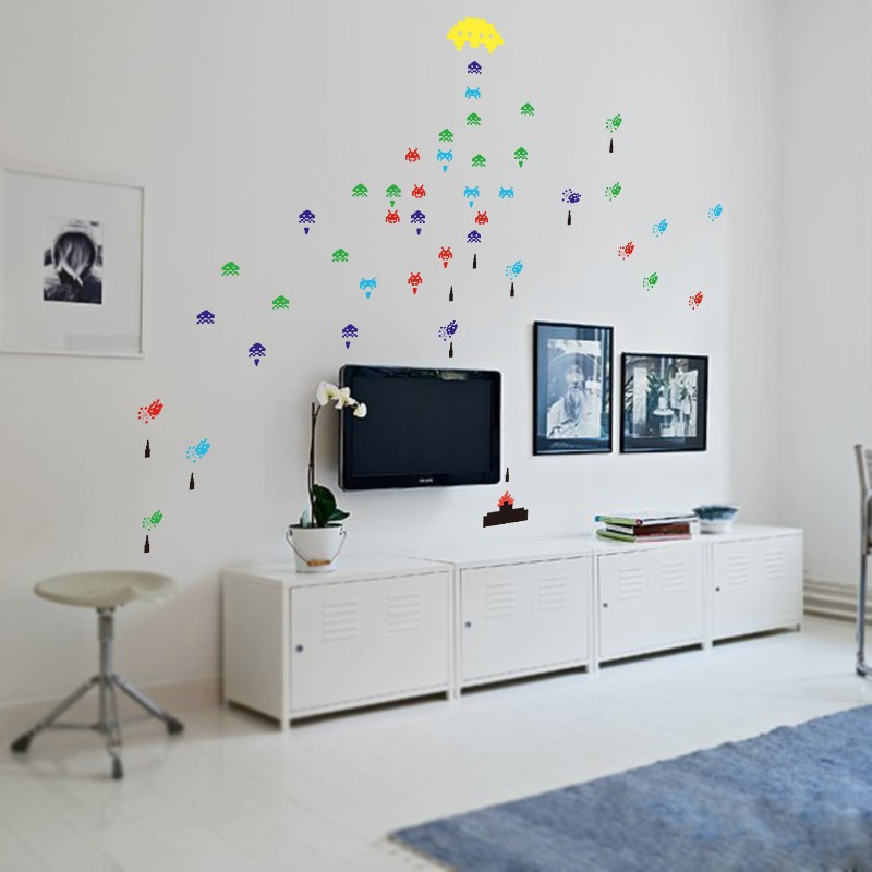 Popular space invaders wall stickers buy cheap space for Vinilos pared aliexpress