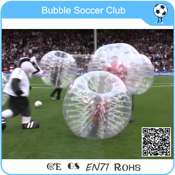 Transparent Bubble Football Soccer Suit, Inflatable Bubble Funball for Adult cheapest crazy best material tpu inflatable body bumper ball bubble soccer ball bubble ball for football