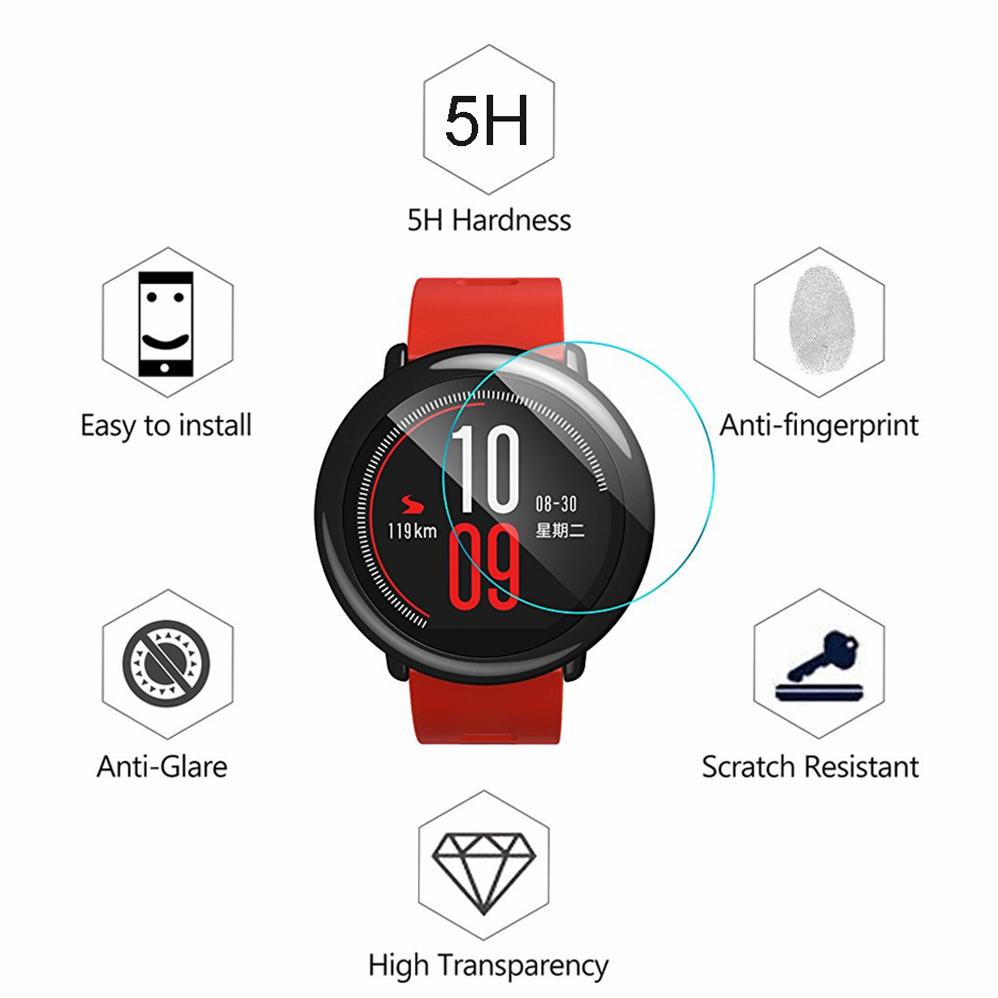 Image 5 - 10Pcs/pack Soft TPU Screen Protector for Xiaomi Huami Amazfit Pace smart watch Sport Smart Watch Protective Film accessories-in Smart Accessories from Consumer Electronics