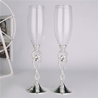 Ring to ring Wedding glass Toasting flutes Champagne flutes Champagne glasses wedding Wedding decoration Goblet gift box