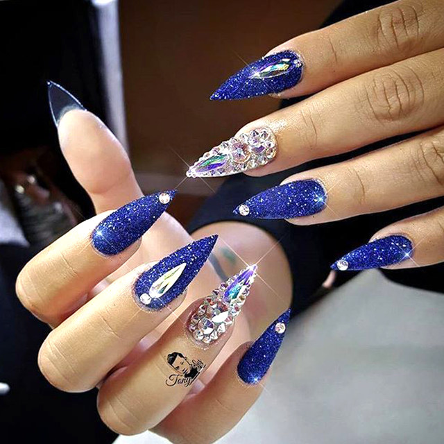 Online Shop 1440pcs/pack White Crystal Rhinestones Nail Art Tips ...