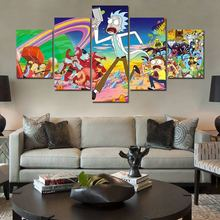 2019 new Wall Picture 5 piece rick and morty Canvas painting movie poster Print panel Painting F1460
