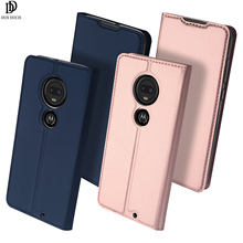 Flip Case For MOTO G7 Plus Card Slot Holder Wallet Stand Cover PU Leather TPU Soft Bumper Protective Mobile Phone Bag pudini wb motog protective flip open pu pc case w stand for moto g black