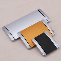 Furniture Handle Dark Knob Pitch Row Hole Distance 96mm 64mm 32mm Zinc Alloy Modern Simple Matte