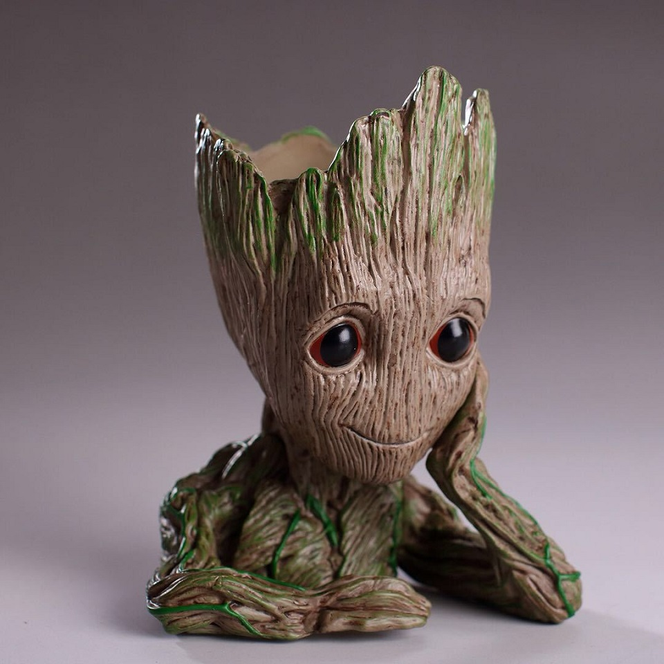 Action Figure Grootted Doll Tree Man Grootted Guardians of the Galaxy Avengers Flowerpot Action Figures Home Decoration Toy grunt movie tree man baby action figure hero model guardians of the galaxy model toy desk decoration gifts for kid grootted