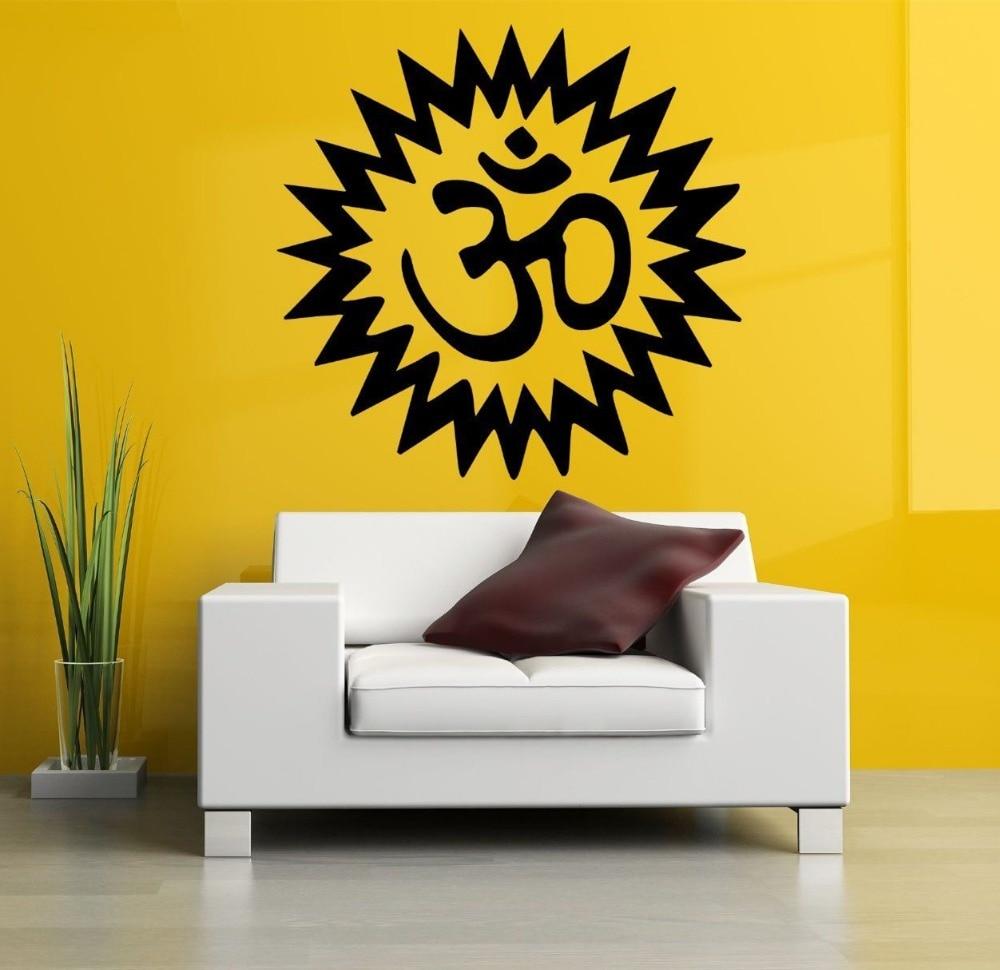 √Wall Room Decor Art Vinyl Sticker Mural Decal Om Symbol Mandala ...