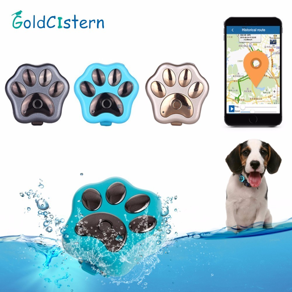 Lovely RF-V30 Smart GPS Led Flashing Electronic Pet Anti-lost Tracker Micro Waterproof W ...