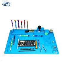 S-170 S-160 S-150 S-140 теплоизолирующая силиконовая пайки коврик стол обслуживания подъемной платформой для ремонта станция с магнитным