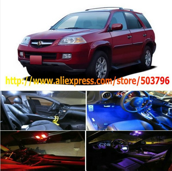 Free Shipping 11Pcs/Lot car-styling LED Interior Package Combo Kit High Power LED Dome Lights For Acura MDX 2001-2006