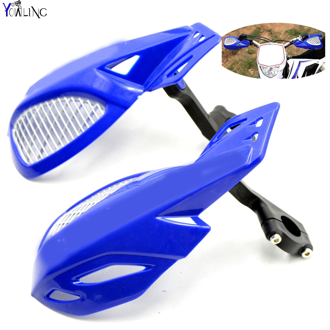 Dirt bike Motorcycle 7/8''22mm handlebar brake hand guard For YAMAHA DT230LANZA PW50 PW80 RT100 SEROW225 dirt bike motorcycle 7 8 22mm handlebar brake hand guard for yamaha yz250x yz426f yz450f yz450fx yz80 yz85