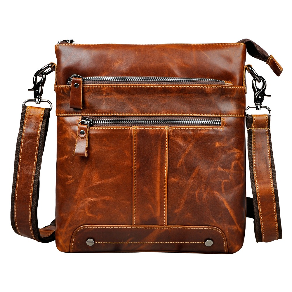 Real Leather Male Design One Shoulder Bag Messenger bag Fashion Crossbody Bag 10 Pad Satchel University School Book bag 617 5boxes 10pcs prostatitis pad to treat prostate disease sexual dysfunction of male pad urological pad painful urination
