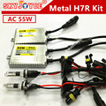 Freeshipping xenon H7R kit H7R 5000 K kit de xenón hid 4300 K de metal H7R base xeon bulbos 8000 K 6000 K 10000 K H7R car styling accesorios