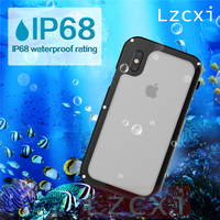 Lzcxi IP68 Waterproof Case For IPhone X Cases Snow Proof Dirt Proof Swimming Diving Phone Cover
