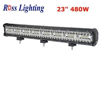 "Tri-row Offroad LED Bar 480W Light Bar 23"" inch Spot Flood Combo Beam for 4x4 Jeep ATV Truck SUV 12V 24V LED Work Light"