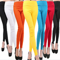 Women Ladies Full Length High Waist Plain Cotton Skinny Leggings All Colors   WOMJL0021
