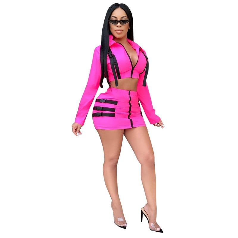 c2fedf5358e1d US $16.99 45% OFF|Casual 2 Piece Set Women Skirt Top Fashion Streetwear  Crop Top Sweatshirt Set Autumn Winter Two Piece Outfits Women Tracksuit-in  ...
