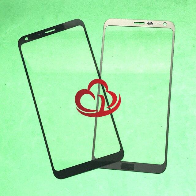 10 teile/los Ersatz LCD Vordere Touchscreen Glas Äußere Linse Für LG Q6 Q6 Plus M700 M700AM M700A X600K X600S x600L