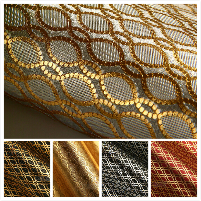 Luxury Gold 3D Wallpaper Modern Embroidery Circle Mural