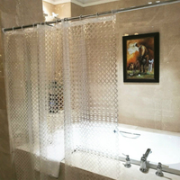 High Quality EVA Transparent Circle Line Shower Curtain Waterproof Mold Proof Solid Color Bathroom Curtains Home