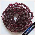 "Wholesale 4-7 mm Freeform Gravel Natural Garnet Stone Nugget Loose Beads Strand 34"" Necklace Bracelet DIY Jewelry Making"