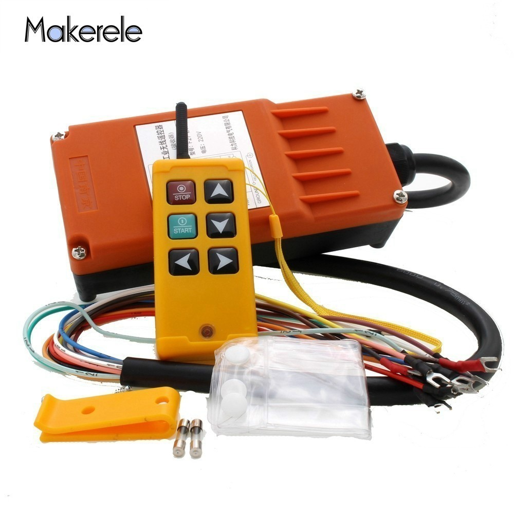 Makerele MKLTS-6 6 clés contrôle industriel télécommande grue contrôle grue ascenseur grue 1 émetteur + 1 récepteur DC12V 24 V