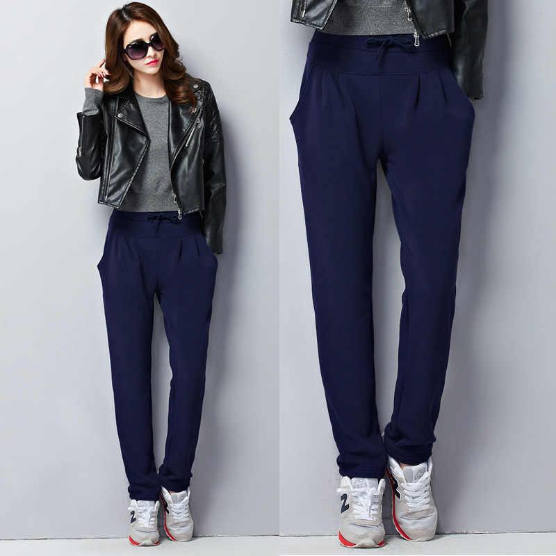 0bf8319e ... Высокое качество женские осенние зимние Бархатные толстые брюки большой  размер 5Xl 6XL свободные шаровары флисовые теплые ...