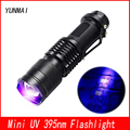 Powerful Mini Zoom Portable UV 395nm LED Flashlight Violet Purple Black Light Torche Lamp Use AA/14500 Battery