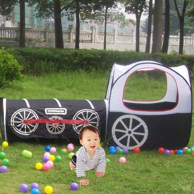 hot sale Parent child interaction black train pop up playhouse play games toy for kids outdoor play Christmas gift-in Toy Tents from Toys u0026 Hobbies on ... & hot sale Parent child interaction black train pop up playhouse ...