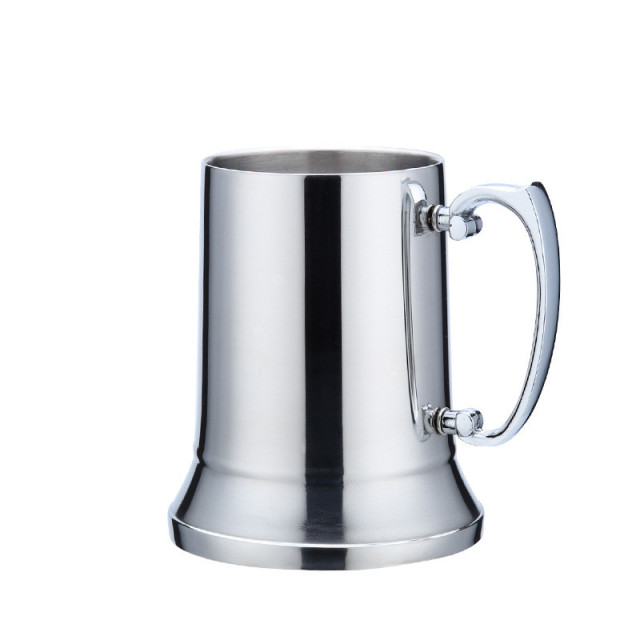 Classic Double Wall Stainless Steel Beer Tankard