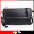 Women Zipper Black Bags Cross Body Lady Shoulder Bag Rivets Handbags Brand Design New Female Messenger Envelope Tote Bags Purses