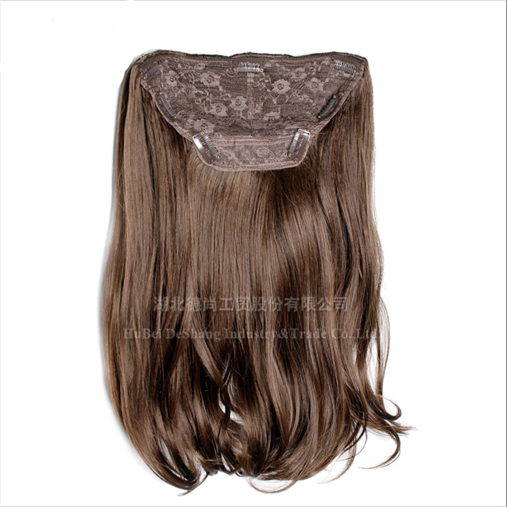 1pcs Wigs for women in Europe and America Europe and America long roll hair clip sends half head to cover receive hair piece