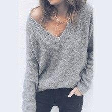 2019 women t-shirts solid tee top womens long sleeve t tops  v-neck tee shirt  female tshirt choker neck solid tee