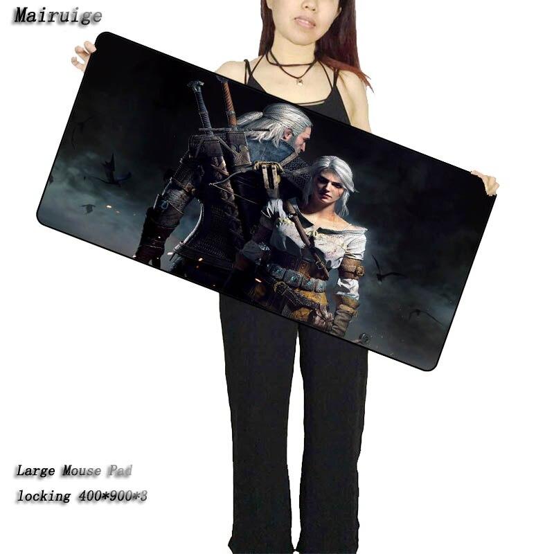 Mairuige Boutique Personnalisé Witcher 3 Grand Tapis De Souris 900x400mm Pad Notbook Ordinateur Tapis De Souris Meilleur Smouse Tapis pour Cs Go DOTA2 Gamer