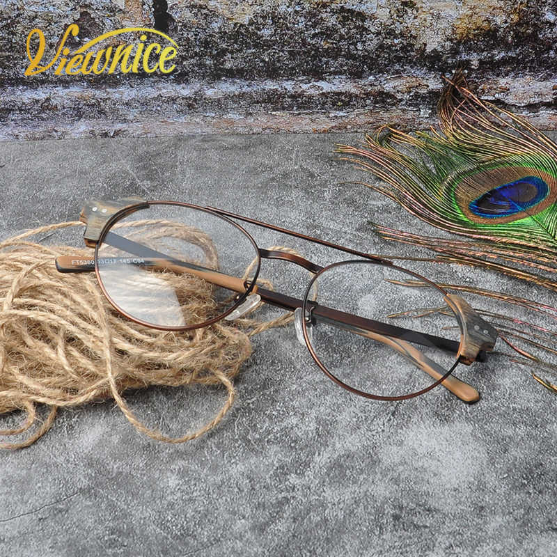 Hot Lunettes de vue Round vintage glasses frame Men Transparent Women  Eyeglasses Frame Brand designer high polishing Metal new