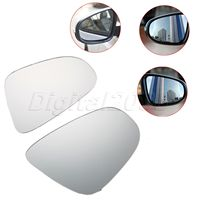 1Pair Left Right Side Heated Door Wing Mirror Glass Mirror For VW GOLF MK6 TOURAN Curved