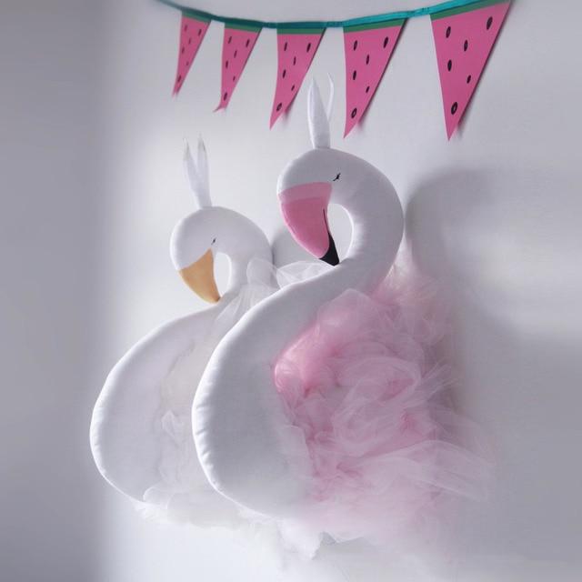 52x19 cm Main Flamingo Swan Jouets En Peluche Salle De Mariage Décorations Décoration Murale Mignon Filles Swan Poupée De Mariage Jouets cadeaux