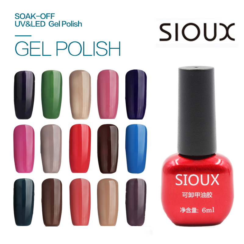 73-96 SIOUX 6ml UV Gel Nail Polish Lámpara LED de larga duración Soak Off Barato Gelpolish Vernis Top Coat Glue 108 Color SI06